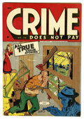 Golden Age (1938-1955):Crime, Crime Does Not Pay #38 Mile High pedigree (Lev Gleason, 1945) Condition: VF/NM. Charles Biro cover. Overstreet 2006 VF/NM 9....