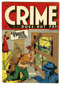 Crime Does Not Pay #38 Mile High pedigree (Lev Gleason, 1945) Condition: VF/NM. Charles Biro cover. Overstreet 2006 VF/N...