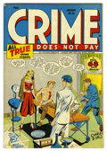Golden Age (1938-1955):Crime, Crime Does Not Pay #49 Mile High pedigree (Lev Gleason, 1947) Condition: NM-. Charles Biro cover. Overstreet 2006 NM- 9.2 va...