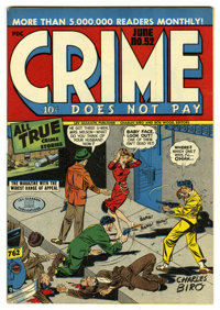 Crime Does Not Pay #52 Mile High pedigree (Lev Gleason, 1947) Condition: NM. Charles Biro cover. Overstreet 2006 NM- 9.2...