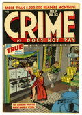 Golden Age (1938-1955):Crime, Crime Does Not Pay #53 Mile High pedigree (Lev Gleason, 1947) Condition: NM. Charles Biro cover. Overstreet 2006 NM- 9.2 val...