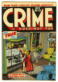 Crime Does Not Pay #53 Mile High pedigree (Lev Gleason, 1947) Condition: NM. Charles Biro cover. Overstreet 2006 NM- 9.2...