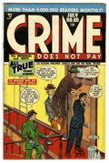 Golden Age (1938-1955):Crime, Crime Does Not Pay #65 Mile High pedigree (Lev Gleason, 1948) Condition: VF/NM. Charles Biro cover. Overstreet 2006 VF/NM 9....