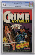 "Golden Age (1938-1955):Horror, Crime Mysteries #7 Davis Crippen (""D"" Copy) pedigree (RibagePublishing, 1953) CGC VF- 7.5 Off-white to white pages. This is..."