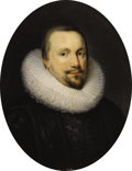 Fine Art - Painting, European:Antique  (Pre 1900), Circle of Cornelius . Thomas Coventry, First Baron ofCoventry (1578-1640). c.17th century. Oil on canvas.29-1/...