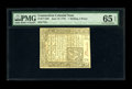 Colonial Notes:Connecticut, Connecticut June 19, 1776 Uncancelled 1s/3d PMG Gem Uncirculated 65EPQ....