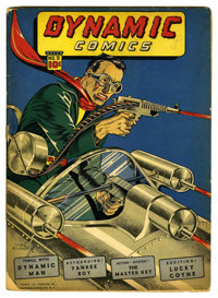 Dynamic Comics #9 (Chesler, 1944) Condition: GD. Spectacular cover art by Mac Raboy. Mr. E begins. Overstreet 2006 GD 2...