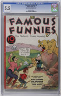 Platinum Age (1897-1937):Miscellaneous, Famous Funnies #8 (Eastern Color, 1935) CGC FN- 5.5 Cream tooff-white pages. Copies of this issue are unknown in grades abo...