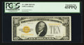 Small Size:Gold Certificates, Fr. 2400 $10 1928 Gold Certificate. PCGS Extremely Fine 45PPQ.. ...