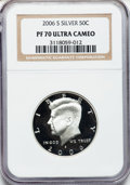 Proof Kennedy Half Dollars, 2006-S 50C Silver PR70 Ultra Cameo NGC. NGC Census: (0). PCGSPopulation (177). Numismedia Wsl. Price for problem free NGC...