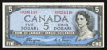 Canadian Currency: , BC-31a $5 Devil's Face 1954.. ...