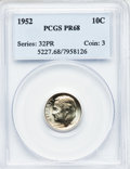 Proof Roosevelt Dimes: , 1952 10C PR68 PCGS. PCGS Population (30/0). NGC Census: (147/15).Mintage: 81,980. Numismedia Wsl. Price for problem free N...
