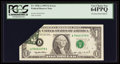 Error Notes:Foldovers, Fr. 1918-A $1 1993 Federal Reserve Note. PCGS Very Choice New64PPQ.. ...
