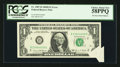 Error Notes:Miscellaneous Errors, Fr. 1907-B $1 1969D Federal Reserve Note. PCGS Choice About New 58PPQ.. ...
