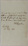Autographs:Authors, James Russell Lowell, British Poet. Autograph Letter Signed. Very good....