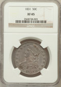 Bust Half Dollars: , 1831 50C XF45 NGC. NGC Census: (124/1196). PCGS Population(210/1208). Mintage: 5,873,660. Numismedia Wsl. Price for proble...