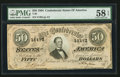 Confederate Notes:1864 Issues, T66 $50 1864 PF-3 Cr. 497.. ...
