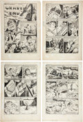 """Original Comic Art:Panel Pages, Bob Powell Chamber of Chills Magazine #24 Partial Story """"Grave's End"""" Original Art (Harvey, 1954).... (Total: 4 Items)"""