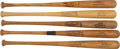 Baseball Collectibles:Bats, Collection of Four Game Used Bats & Clemente Store Model Bat. ...