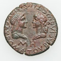 Ancients:Roman Provincial , Ancients: BOSPORAN KINGDOM. Sauromates I (AD 93/4-123/4). AE 48units (28mm, 8.17 gm, 12h). ...