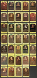 Baseball Collectibles:Others, Baseball Greats Signed Hall of Fame Plaque Postcards Lot of 162....