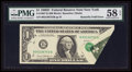Error Notes:Foldovers, Fr. 1907-B $1 1969D Federal Reserve Note. PMG Choice About Unc 58EPQ.. ...