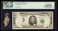 Error Notes:Major Errors, Fr. 1973-G $5 1974 Federal Reserve Note. PCGS Very Choice New64PPQ.. ...