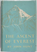 Books:Biography & Memoir, Edmund Hillary [subject]. John Hunt. The Ascent of Everest. Hodder & Stoughton, 1954. Third impression. Signed by ...