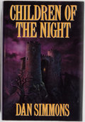 Books:Horror & Supernatural, Dan Simmons. SIGNED. Children of the Night. Putnam, 1992.First edition, first printing. Signed by the author....