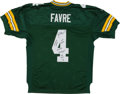 Autographs:Baseballs, Brett Favre Signed and Stat Inscribed Green Bay Packers Jersey. ...