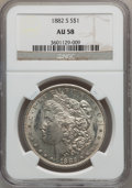 Morgan Dollars: , 1882-S $1 AU58 NGC. NGC Census: (55/66696). PCGS Population (96/69801). Mintage: 9,250,000. Numismedia Wsl. Price for probl...