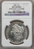 Morgan Dollars: , 1887 $1 -- Improperly Cleaned -- NGC Details. UNC. NGC Census:(95/163097). PCGS Population (81/122136). Mintage: 20,290,71...