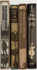 Books:Science Fiction & Fantasy, [The Folio Society]. Kazuo Ishiguro, Robert Graves, Leon Wolff andGustav Meyrink. Four Folio Society Editions. Fine or as n...