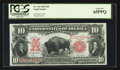 Large Size:Legal Tender Notes, Fr. 116 $10 1901 Legal Tender PCGS Gem New 65PPQ.. ...