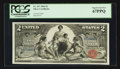 Large Size:Silver Certificates, Fr. 247 $2 1896 Silver Certificate PCGS Superb Gem New 67PPQ.. ...