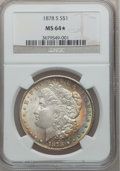 1878-S $1 MS64★ NGC. NGC Census: (17172/4967 and 175/121*). PCGS Population: (16789/5650 and 175/121*). CDN: $100 Wh
