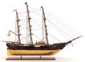 Maritime:Decorative Art, A SAILOR'S SHIP MODEL OF A MERCHANT VESSEL. 36 x 51 inches (91.4 x129.5 cm). ...