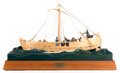 Maritime, A SHIP MODEL OF CALMING THE SEA BY REX STEWART. AmericanMarine and Ship Model Gallery, Salem MA. 20 x 28-1/8 x ...