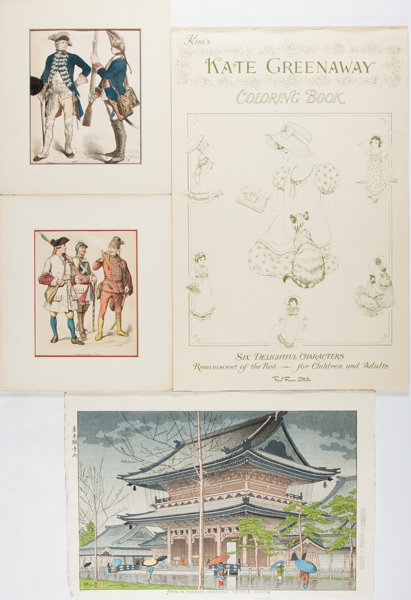 Kate Greenaway and Others. Hand-Colored Items, including the | Lot ...