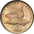 Flying Eagle Cents, 1858 1C Small Letters MS66 NGC....