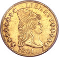 Early Eagles, 1801 $10 -- Smoothed -- PCGS Genuine. AU Details. BD-2, R.2....