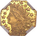 California Fractional Gold, 1852 25C Indian Octagonal 25 Cents, BG-799V, High R.7, MS66Prooflike NGC....