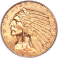 Indian Half Eagles, 1915 $5 MS64 PCGS. CAC....