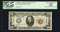 Small Size:World War II Emergency Notes, Fr. 2305* $20 1934A Hawaii Mule Federal Reserve Note. PCGS ChoiceApparent About New 55.. ...