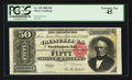 Large Size:Silver Certificates, Fr. 329 $50 1880 Silver Certificate PCGS Extremely Fine 45.. ...