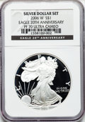 Modern Bullion Coins, 2006-W $1 One Ounce Silver 20th Ann. PR70 Ultra Cameo NGC. NGCCensus: (0). PCGS Population (1330). Numismedia Wsl. Price ...
