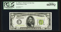 Fr. 1955-C* $5 1934 Light Green Seal Federal Reserve Note. PCGS Gem New 66PPQ