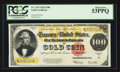 Large Size:Gold Certificates, Fr. 1215 $100 1922 Gold Certificate PCGS About New 53PPQ.. ...