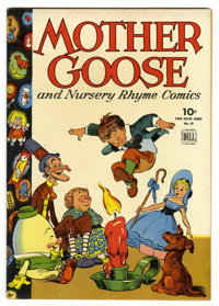 Four Color #59 Mother Goose and Nursery Rhyme Comics - File Copy (Dell, 1944) Condition: NM-. This wonderful copy featur...