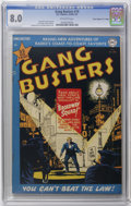 "Golden Age (1938-1955):Crime, Gang Busters #19 Davis Crippen (""D"" Copy) pedigree (DC, 1951) CGC VF 8.0 Off-white pages. Dan Barry cover and art. Curt Swan..."